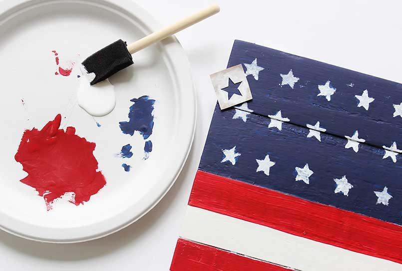 How to Make a Rustic American Wood Flag DIY