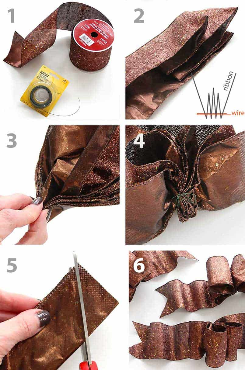 How To Make A Bow For A Christmas Tree Ribbon Diy Bloom
