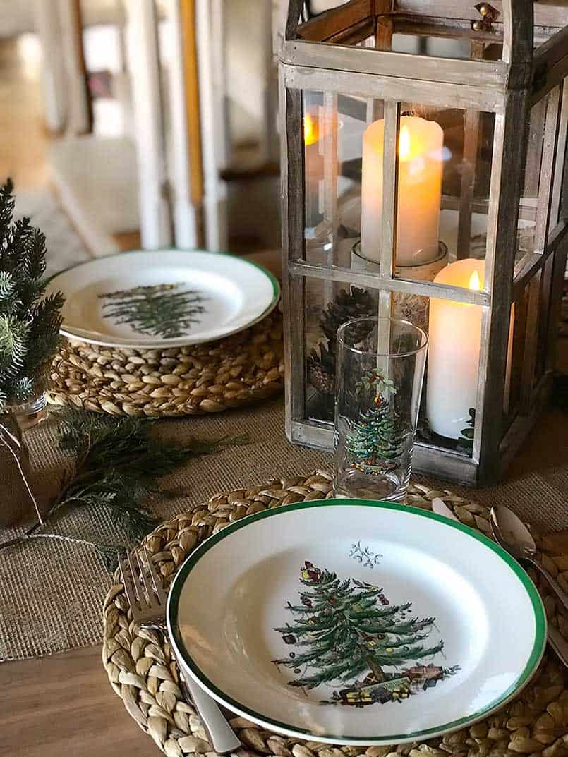 Inspiration for a Christmas Table Setting