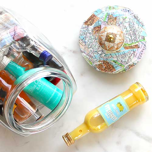 Decoupage Ideas for a Glass Storage Jar Lid
