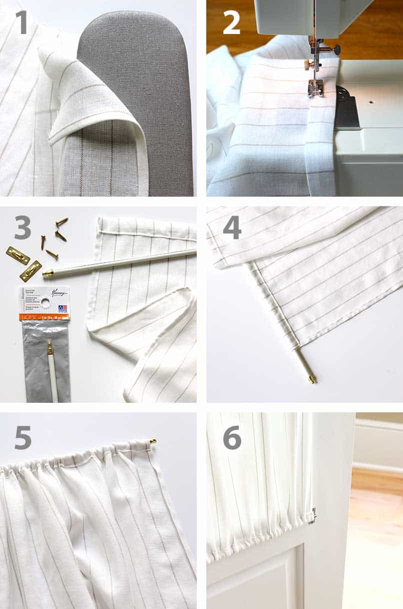 Easy French Door Curtains To Make Be Brave And Bloom