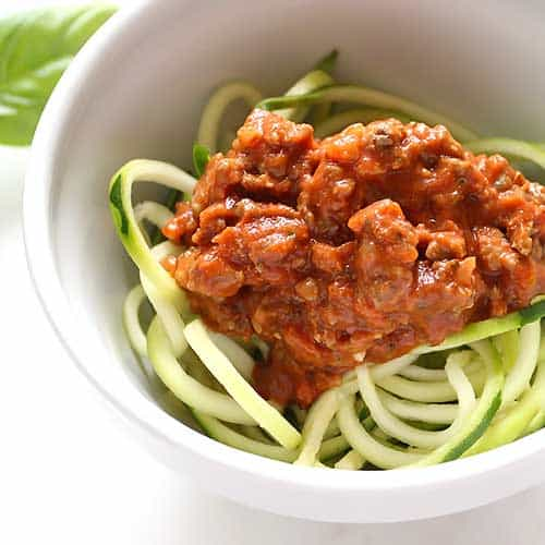 healthy homemade spaghetti sauce recipe with zucchini noodles
