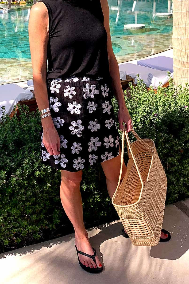 Easy to sew skirt with free pattern