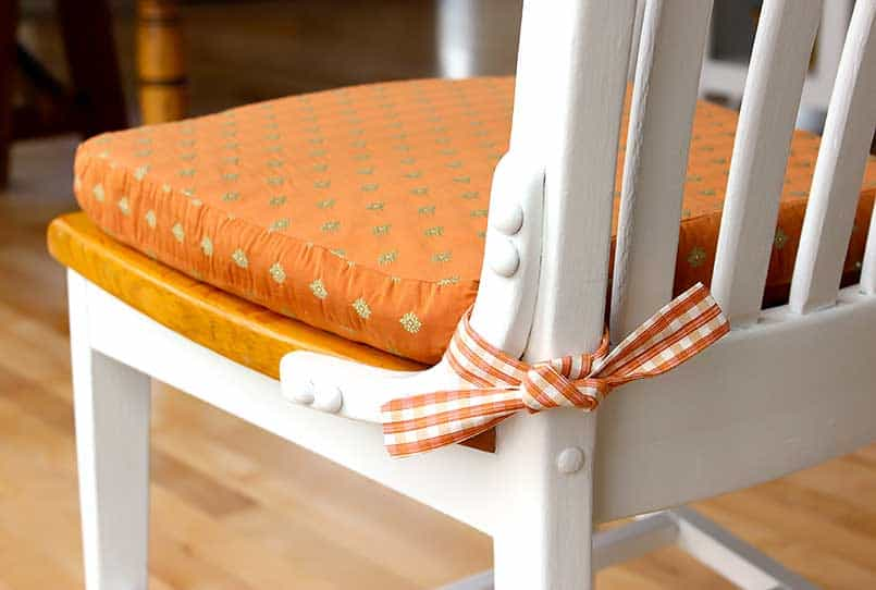 DIY chair cushion on an office chair