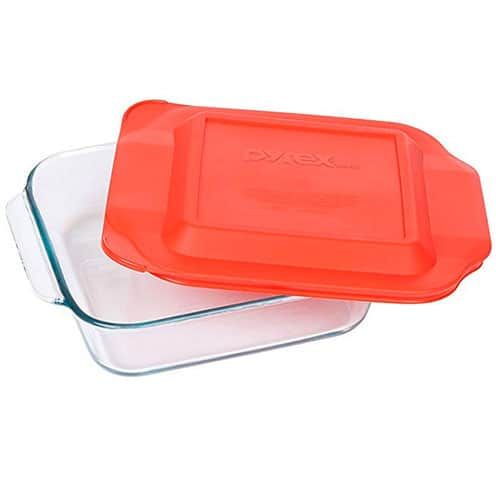 Pyrex square glass pan for recipes Pyrex 8 Inch Square Baking Dish on bebraveandbloom.com