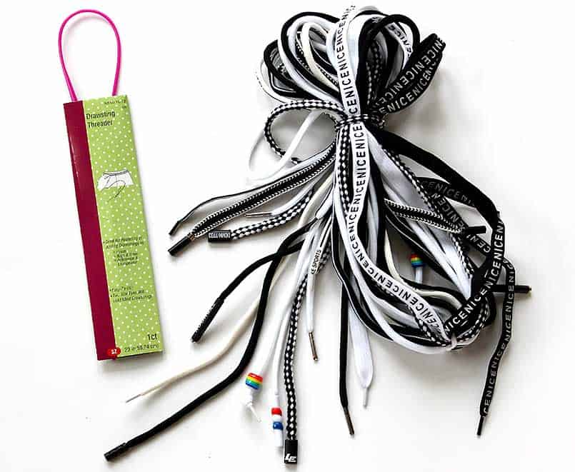 Package of fashionable drawstrings available on Amazon.com