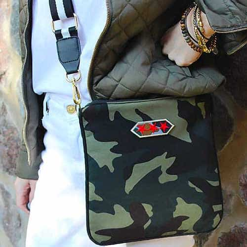 Camouflage DIY crossbody purse with strap from Amazon