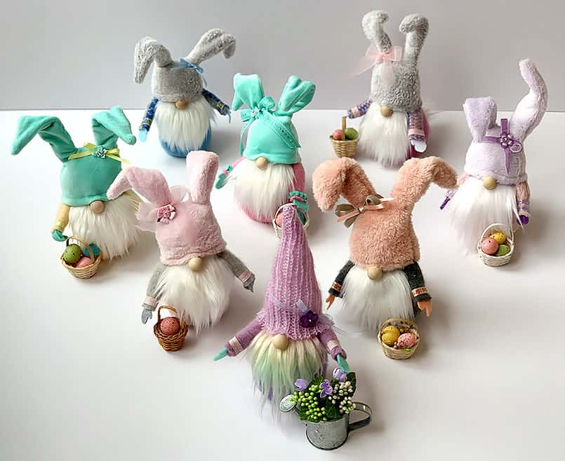 Easter and spring handmade DIY gnomes
