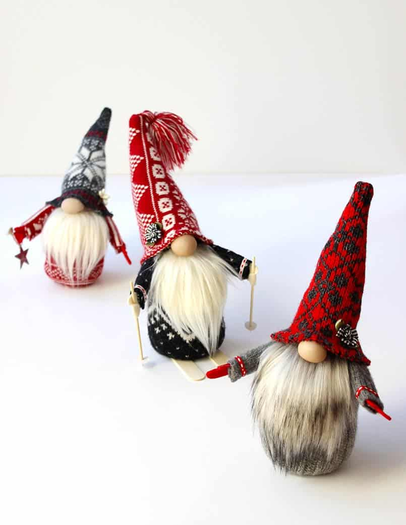Step by step tutorial for how to make handmade gnomes.