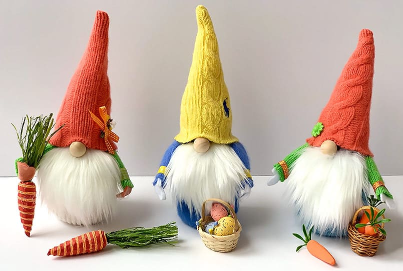 Spring DIY Handmade Gnome with carrots