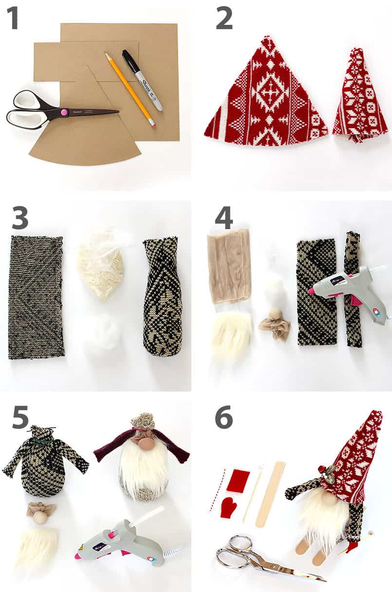 How To Make Easy Diy Gnomes Free Pattern Be Brave And Bloom