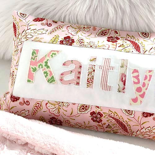 A tutorial for a handmade DIY personalized applique pillowcase