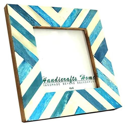 teal frame with cool geometric pattern