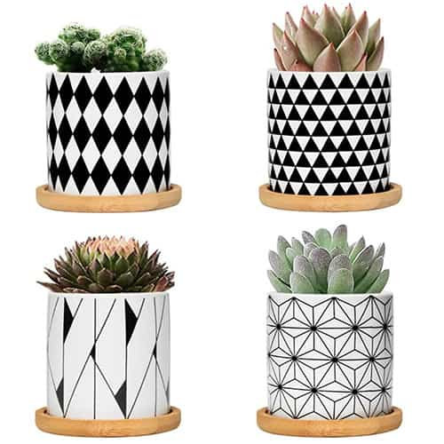 cool planters with geometric designs