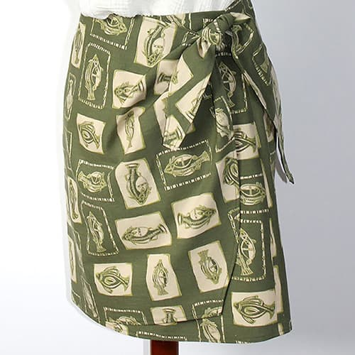 Modeling a make and sew a DIY wrap skirt