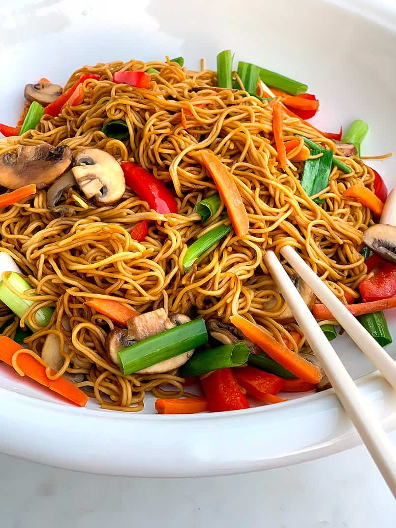 Chinese Lo Mein Noodles Recipe Asian Cooking Be Brave And Bloom
