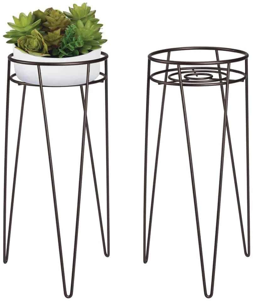 Metal plant stands perfect for DIY fake plant decor