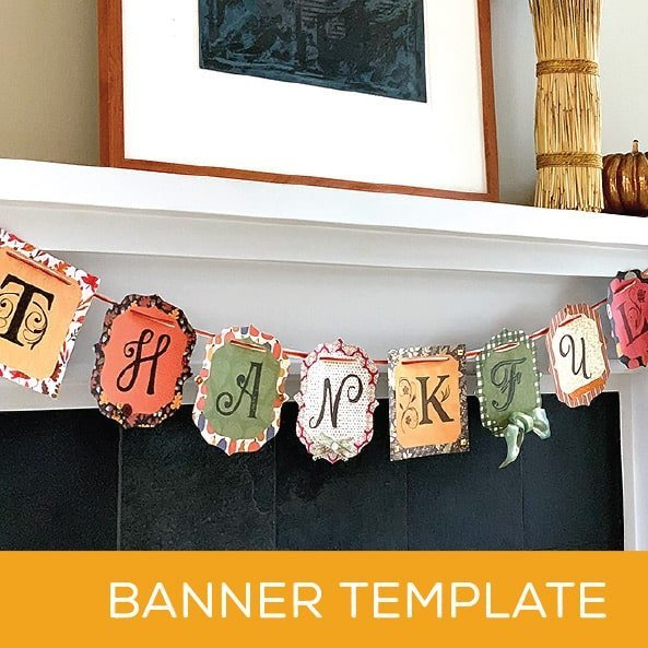 Thanksgiving Crafts Banner - Girlfriends Craft
