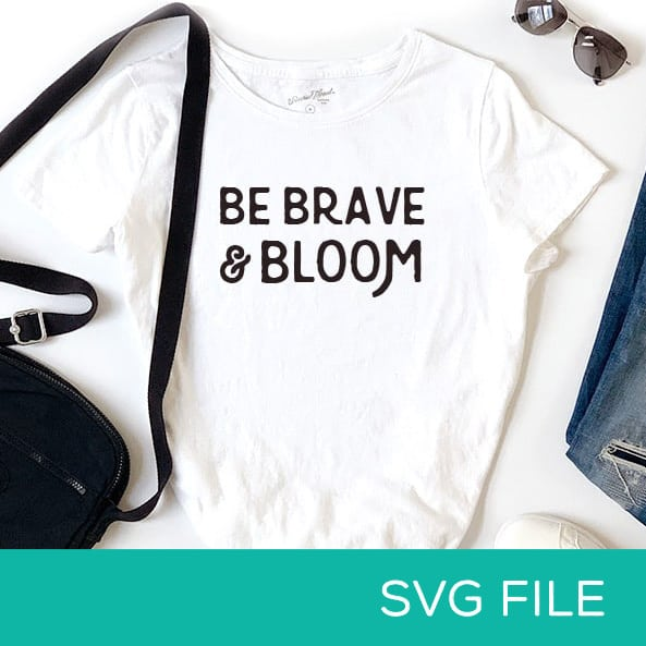 Graphic t-shirt with an iron-on everyday vinyl design. SVG file for sale, for Cricut machines.