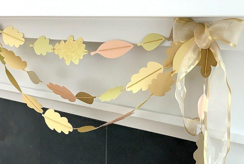 Fall leaf crafts garland