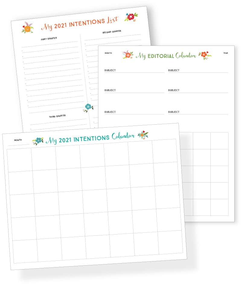 Free new year printables to download for 2021