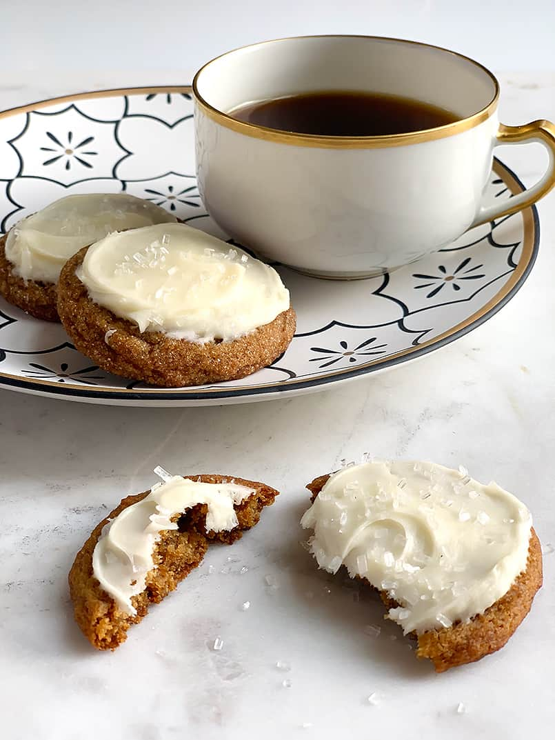 Soft ginger cookies and coffee