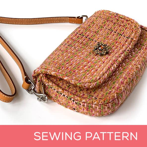 Bag made with a sewing pattern for a baguette-style purse.