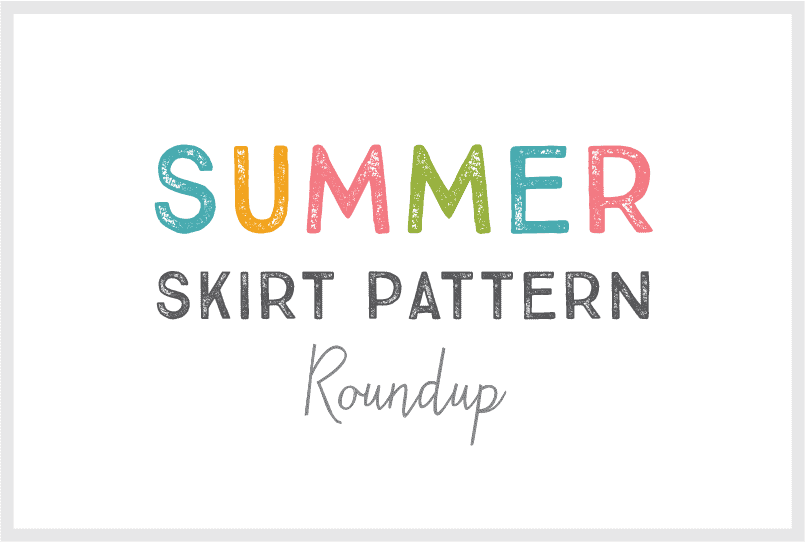 A title for a summer skirt pattern roundup post.
