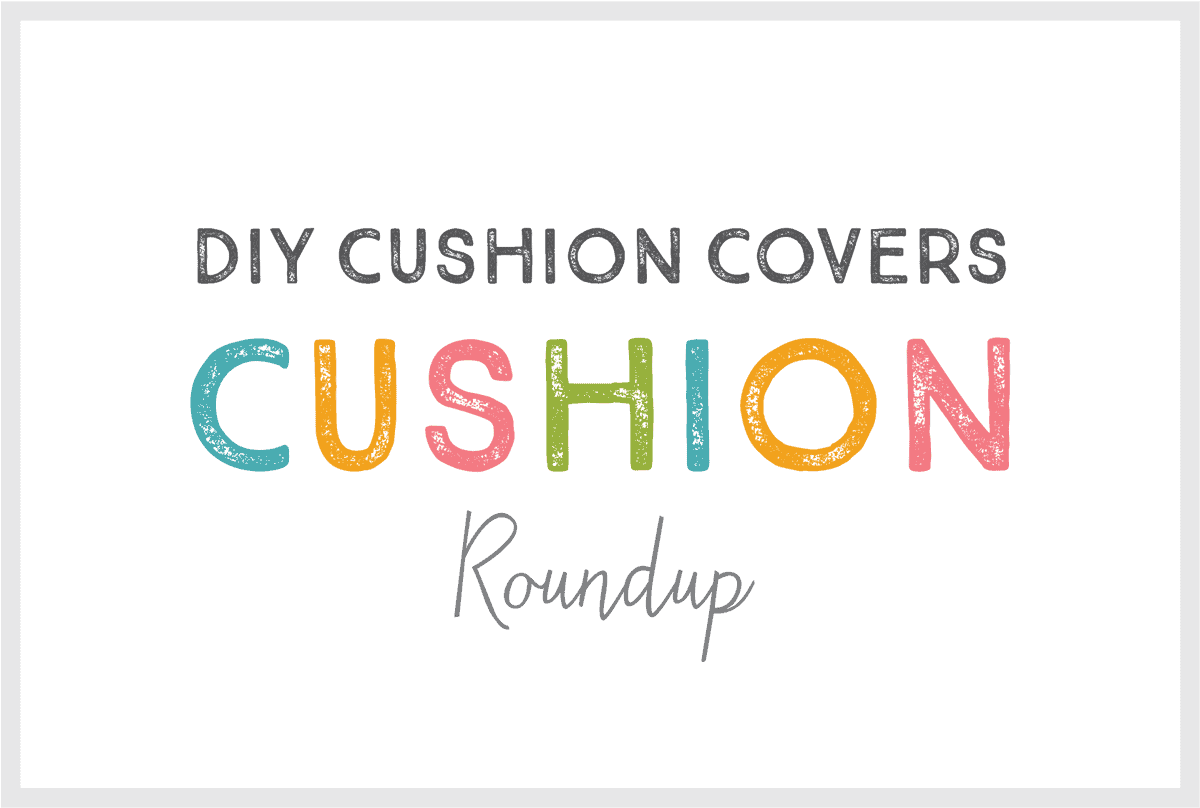 A heading for a blog post about a seat cushion DIY roundup.