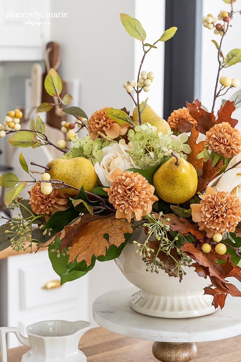 Fall flower arrangements by Sincerely, Marie Designs.